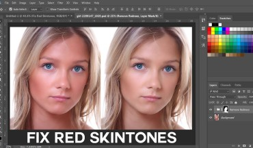 How to Remove or Reduce Red Skin Tones in Photoshop