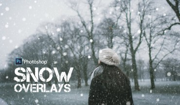 Free Snow Texture Overlays - Add Snowfall to Photos in Photoshop