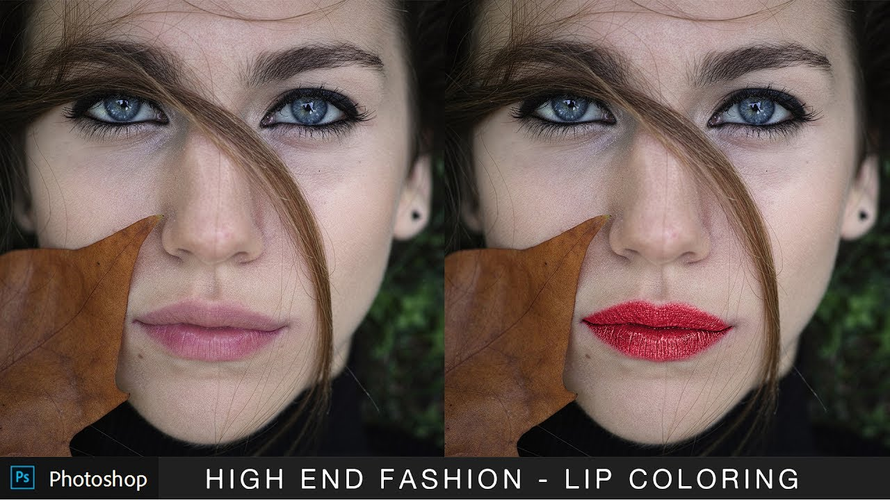 How to Apply Glossy Lip Color & Shade in Photoshop