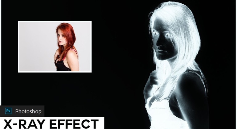 How to Create fake X-ray Color Effect in photoshop