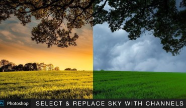 how to Select and Replace Sky with Channels in Photoshop