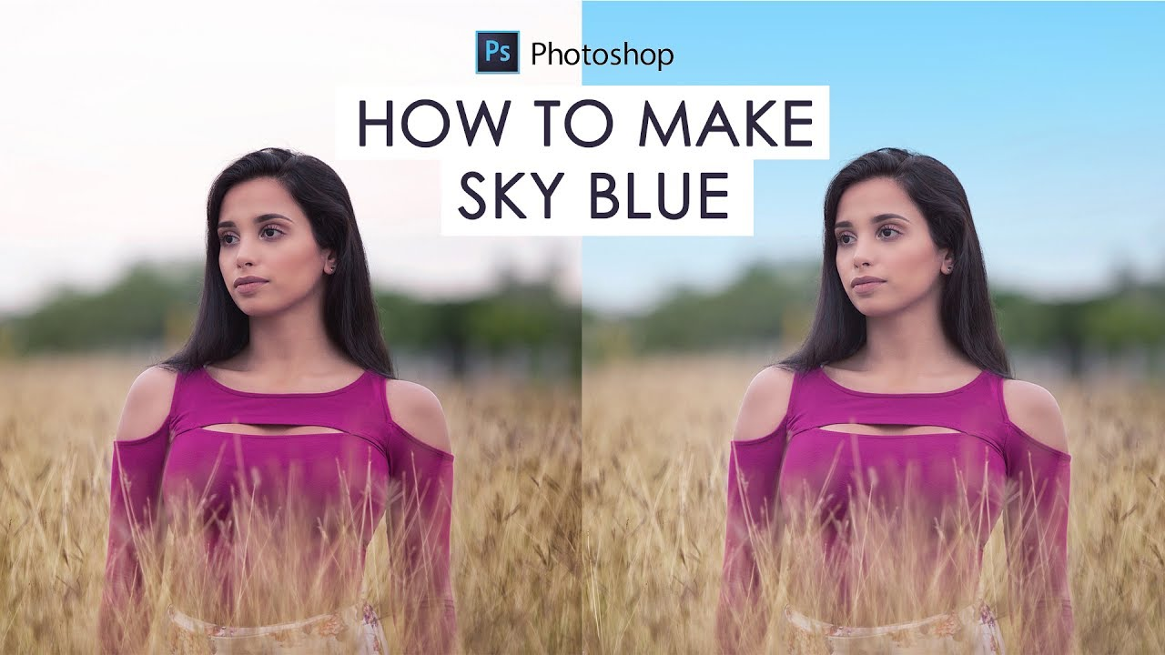 How to Change Blown-Out White Sky to Blue in Photoshop