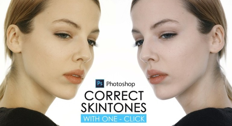 How to Correct Skin Tone with One Click in Photoshop
