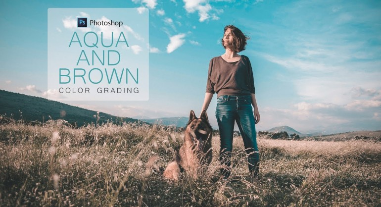 How to Create Aqua and Brown Color Grading Effect in Photoshop