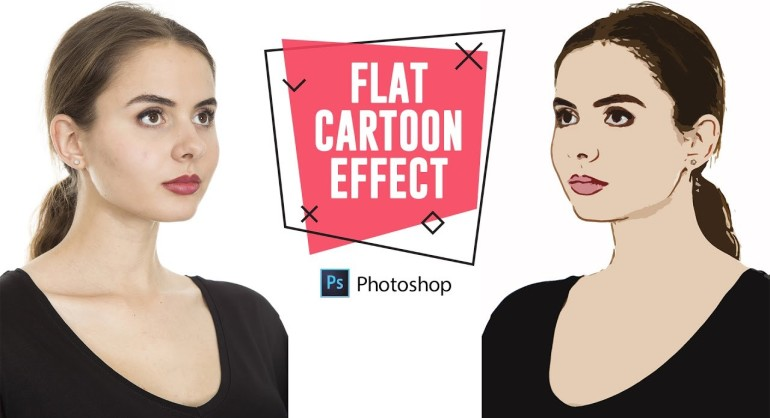 How to Create Flat Cartoon Effect in Photoshop with Stamp Cutout Filter