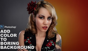 How to Add Color to Grey Neutral Portrait Background in Photoshop