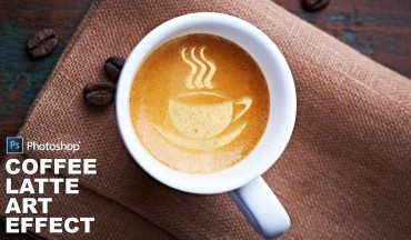 How to Create Coffee Latte Art Effect in Photoshop