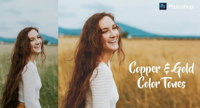 How to Create Copper & Gold Color Grading Effect in Photoshop