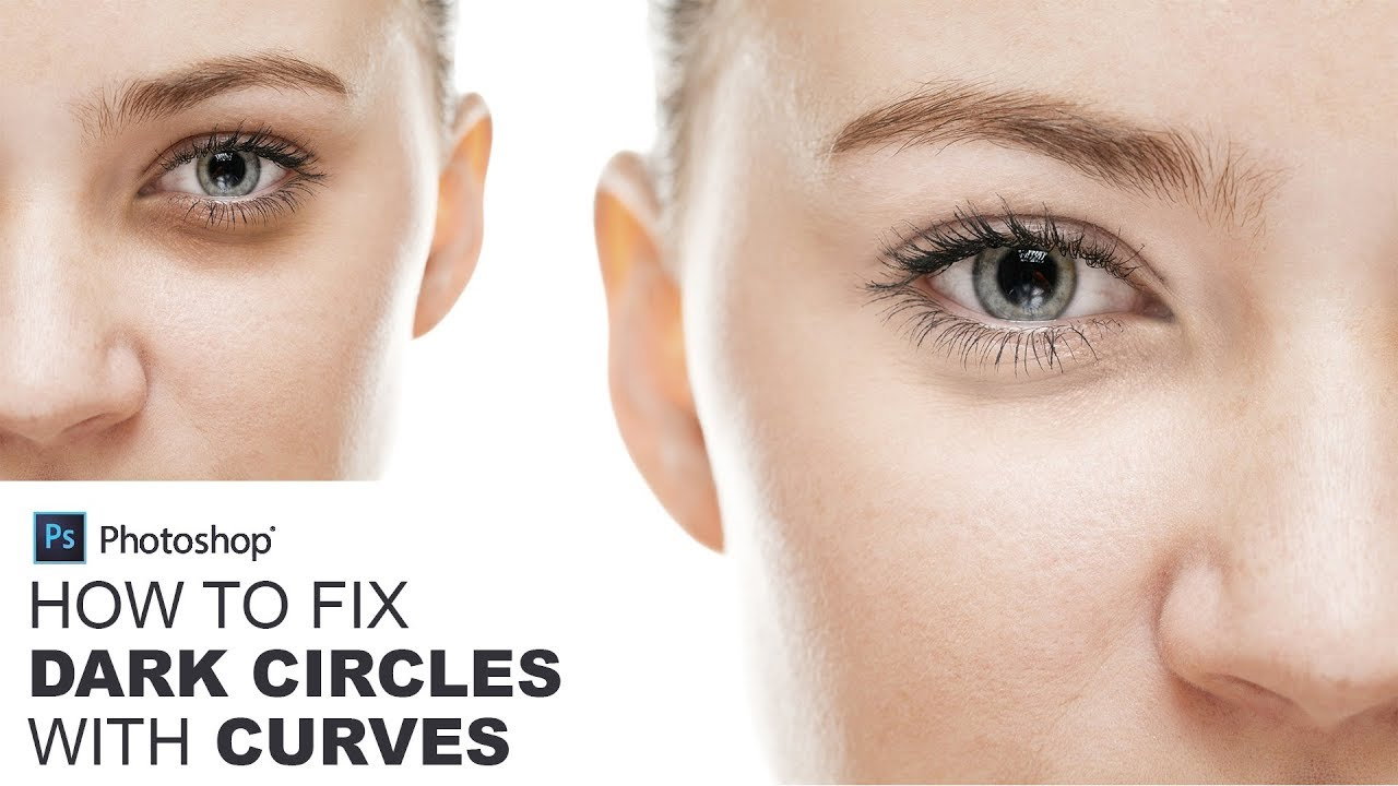 How to Fix Dark Circles with Curves in Photoshop