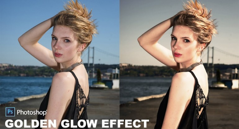 How to Create Beautiful Golden Glow Portraits Photo Effect in Photoshop