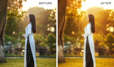 How to Create Fake Golden Hour Sunset Light Effect in Photoshop