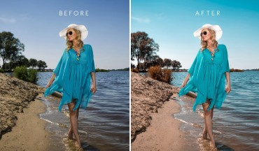 Aqua Brown Toning - Editing a Summer Beach Photography in Photoshop