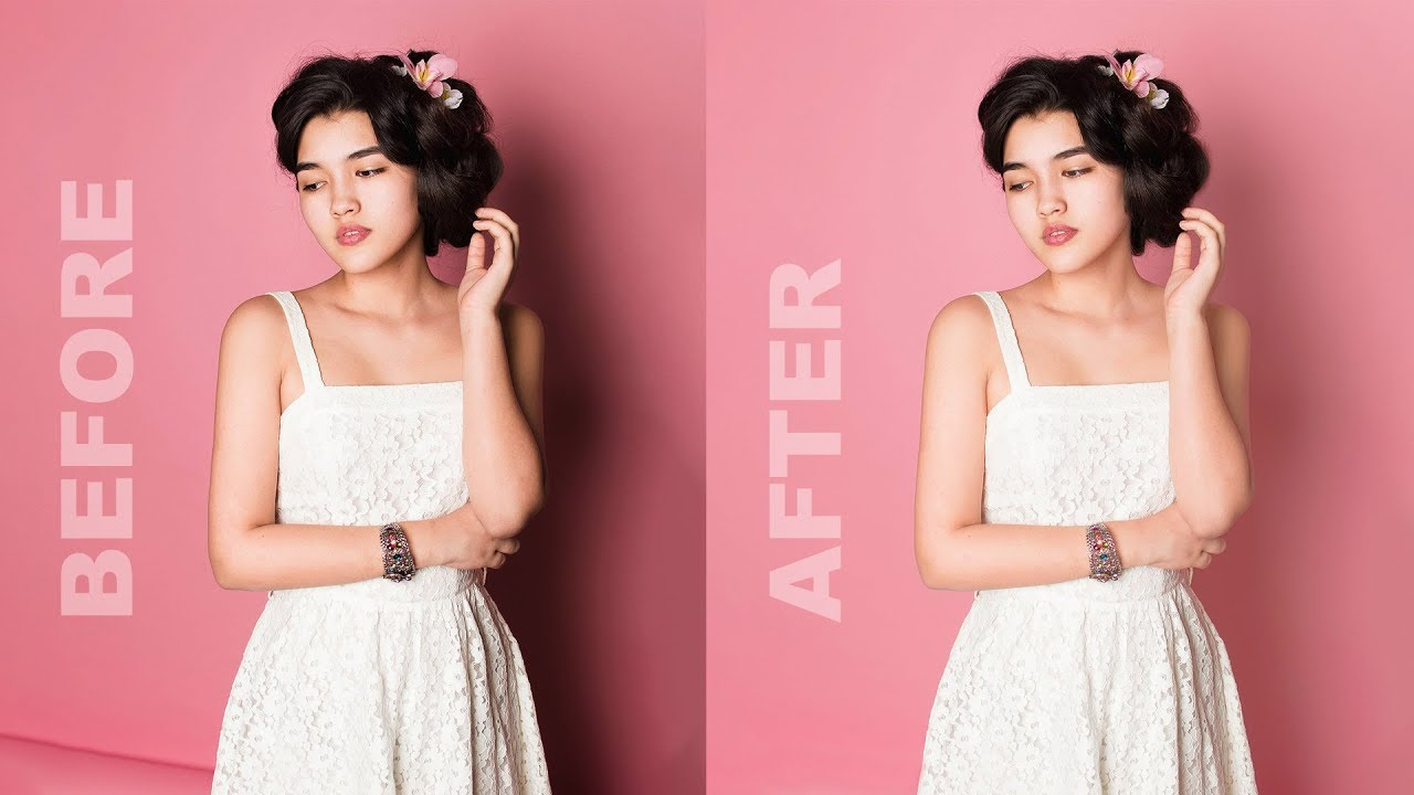 How to Reduce or Diffuse Background Shadows Behind the Subject in Photoshop