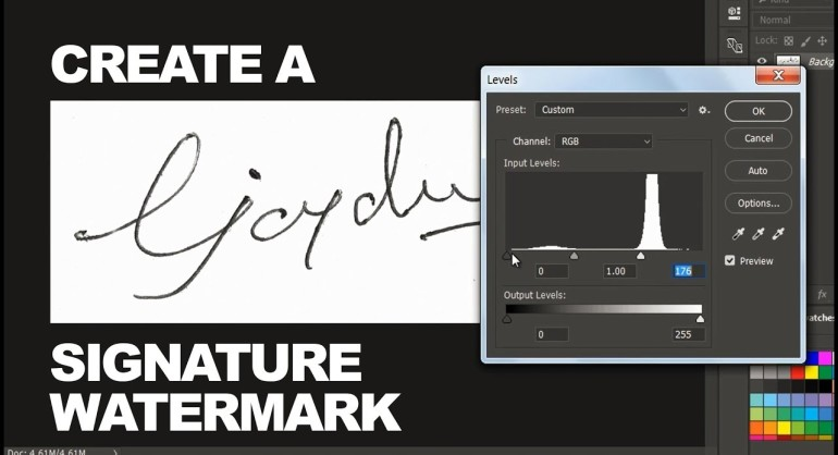 DIY Make Your Own Signature Into Watermark In Just 2 Minutes