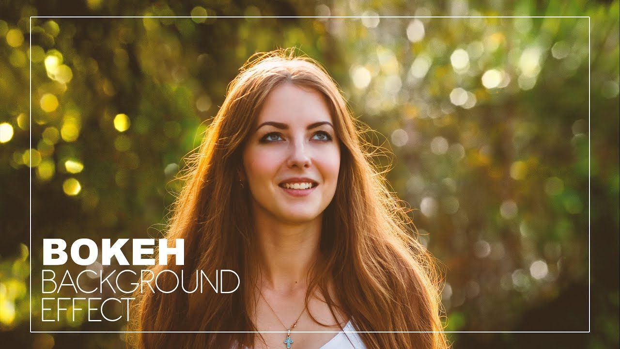 How to Add Bokeh Blur Background to Photos in photoshop