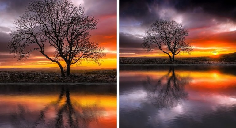 How to Create Realistic Waterscape Photos in Photoshop - Add Water Reflections Effect to Photos