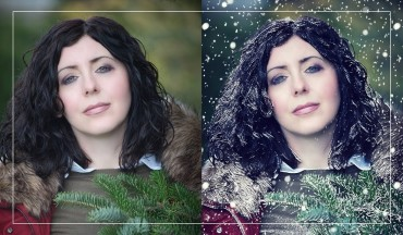 Create Snow Effect Portrait in Photoshop - Change Summer To Winter