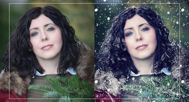 Create Snow Effect Portrait in Photoshop - Change Summer To Winter