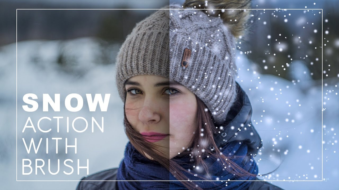 How to Create and Add Snow to Photos in Photoshop with Action Brush