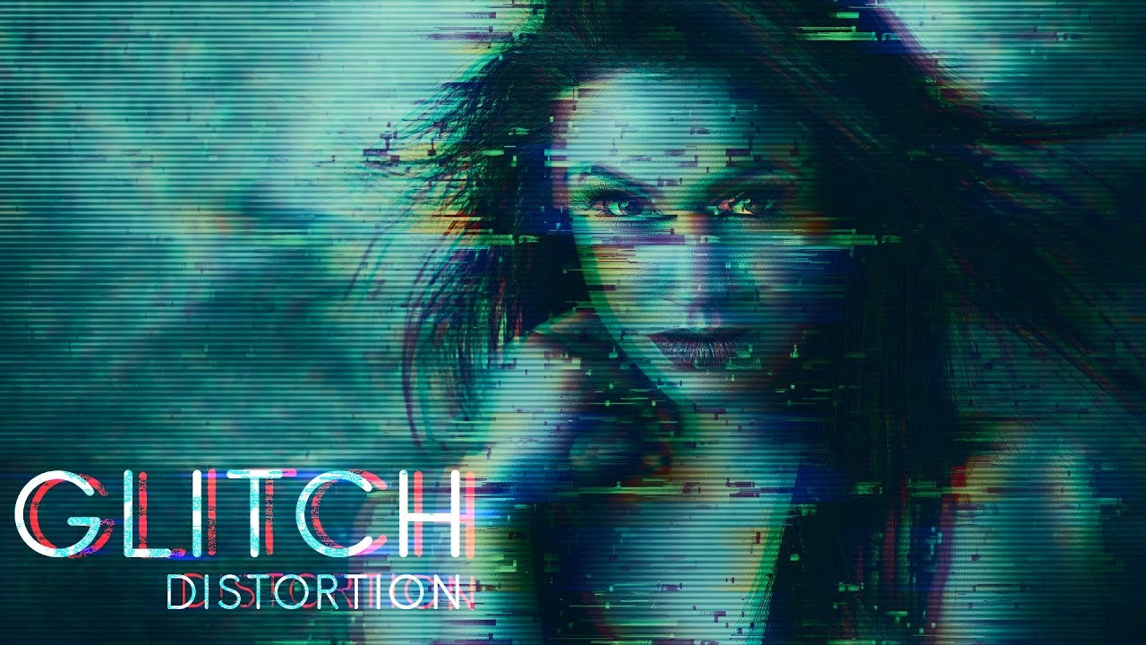 How to Create Glitch Distortion Photo Effect in Photoshop ...