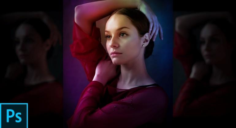 Dual Light Studio Effect in photoshop tutorial