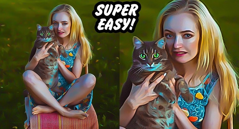 Super Easy Painterly Effect Trick Using Photoshop Camera Raw Filter